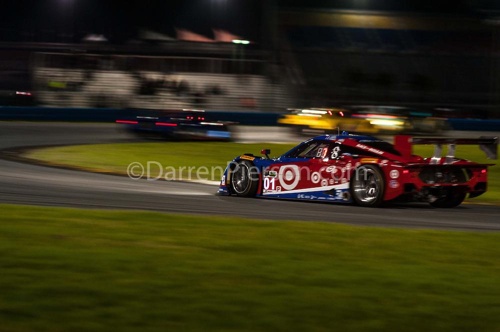 #01 Chip Ganassi Racing with Felix Riley DP: Scott Pruett, Joey Hand, Charlie Kimball, Sage Karam