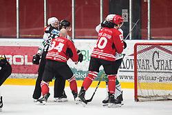 Fight during Alps League Ice Hockey match between HDD SIJ Jesenice and HK SZ Olimpija on December 20, 2019 in Ice Arena Podmezakla, Jesenice, Slovenia. Photo by Peter Podobnik / Sportida