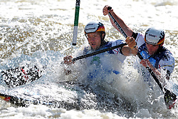 June 2, 2018 - Prague, Czech Republic - Franz Anton and Jan Benzien of Germany in action during the Men's C2 finals at the European Canoe Slalom Championships 2018 at Troja water canal in Prague, Czech Republic, 02 June 2018. (Credit Image: © Slavek Ruta via ZUMA Wire)