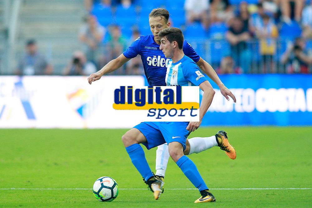 Malaga CF's Alex Mula (r) and SS Lazio's Pezzini Leiva during XXXIII Costa del Sol Trophy. August 5,2017. (ALTERPHOTOS/Acero)