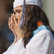 052511Newark DE: 052511-DelcastleTechHSgraduation-SS.  Delcastle Co Valedictorian Manuela Restrepo get emotional as she address her class during Delcastle Tech High School Graduation Ceremony held Wednesday, May 25th 2011, at The Bob Carpenter Center in Newark Delaware.<br /> <br /> Special to The News Journal/SAQUAN STIMPSON
