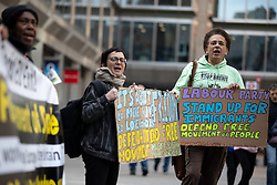 © Licensed to London News Pictures. 30/04/2019. London, UK. Anti-Brexit demonstrators outside Labour Party headquarters for a National Executive Meeting at which Labour's position on a second EU vote will be decided. Photo credit : Tom Nicholson/LNP