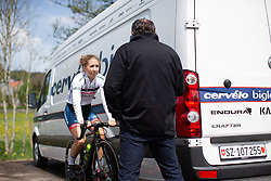 Cecilie Uttrup Ludwig of Cervelo Bigla before Stage 2 of the Festival Elsy Jacobs - a 111.1 km road race, starting and finishing in Garnich on April 29, 2018, in Luxembourg. (Photo by Balint Hamvas/Velofocus.com)
