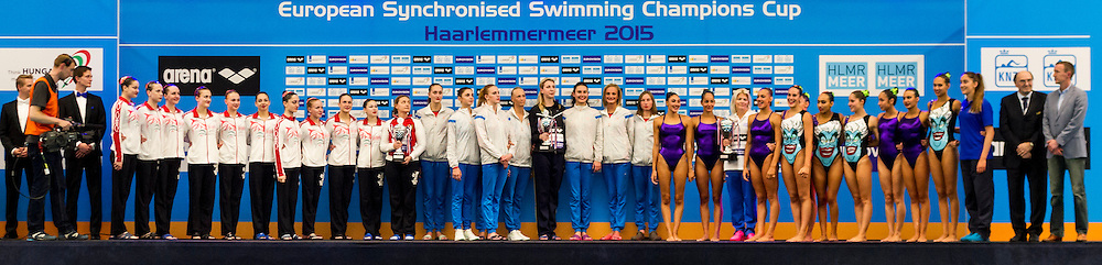 Closing Ceremony<br /> Closing Ceremony<br /> European Champions Cup Synchronised Swimming Haarlemmermeer 2015<br /> Haarlemmermeer, Netherlands 2015  May 8 th - 10 th<br /> Photo P. F. Mesiano/Deepbluemedia/Inside
