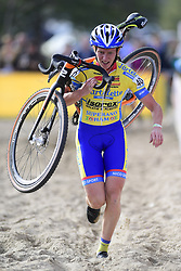 October 20, 2018 - Boom, France - VAN DE STEENE Kim (BEL) of TARTELETTO - ISOREX in action during the 2nd leg of the women elite and U23 Telenet Superprestige cyclocross race (Credit Image: © Panoramic via ZUMA Press)