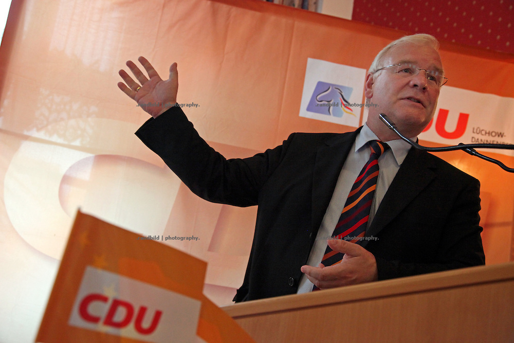 Bernd Busemann, minister of justice, lower saxony (CDU) durning a speech in Lüchow.