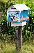 Painted mailbox, North Island, New Zealand