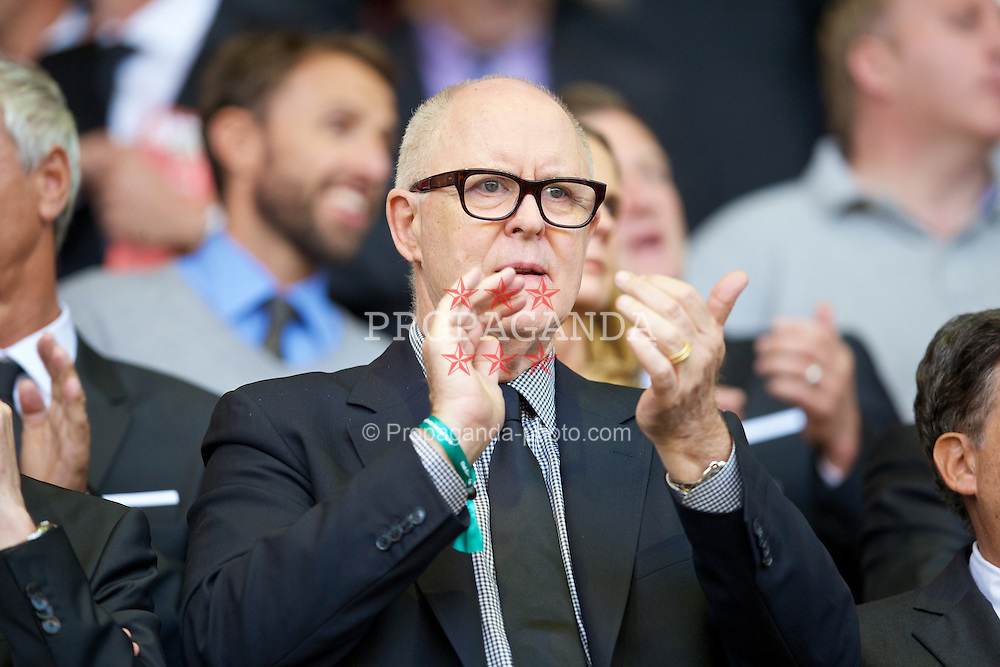 LIVERPOOL, ENGLAND - Monday, August 17, 2015: Actor John Lithgow during the Premier League match between Liverpool and AFC Bournemouth at Anfield. (Pic by David Rawcliffe/Propaganda)