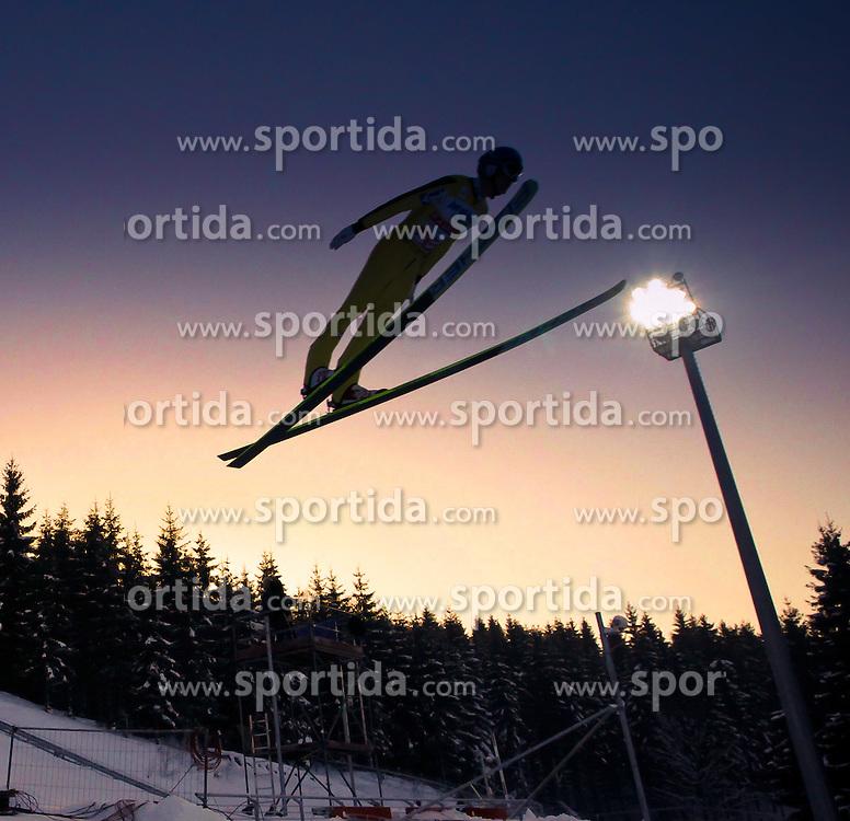 01.02.2011, Vogtland Arena, Klingenthal, GER, FIS Ski Jumping Worldcup, Team Tour, Klingenthal, im Bild .MORGENSTERN Thomas, AUT im Sonnenuntergang // MORGENSTERN Thomas, AUT, in Sunset during the FIS Ski Jumping Worldcup, Team Tour in Klingenthal, Germany, EXPA Pictures © 2011, ..PhotoCredit: EXPA/ Jensen Images/ Ingo Jensen +++++ ATTENTION +++++ GERMANY OUT!