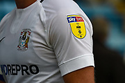 SkyBET League 1 EFL logo on a Coventry shirt sleeve during the EFL Sky Bet League 1 match between Gillingham and Coventry City at the MEMS Priestfield Stadium, Gillingham, England on 25 August 2018.