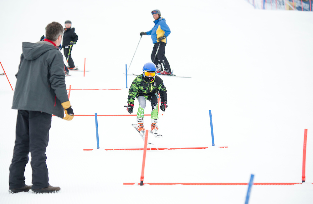 Gunstock Ski Club Skills Quest for U8 and U10 athletes.  ©2014 Karen Bobotas Photographer