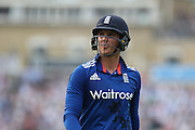 England Jason Roy is out for 39 during the Royal London One Day International match between England and New Zealand at the Oval, London, United Kingdom on 12 June 2015. Photo by Phil Duncan.