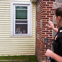 ​Sergeant Crumley waves goodbye to her daughter Taylor, and son Andrew as she leaves home. Taylor bears a strong resemblance to her mother, and despite being young exemplifies a strong character much like Sergeant Crumley's, while Andrew misses his mother dearly even before she is out of view.