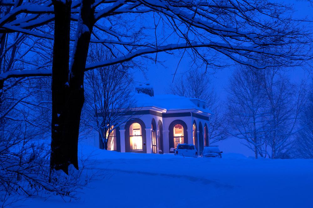 First snow in Brandon, Vermont.