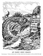 """An Early Silly Season. The Sea-Serpent. """"Well, if this sort of thing keeps on, it'll mean a dull August for me."""""""