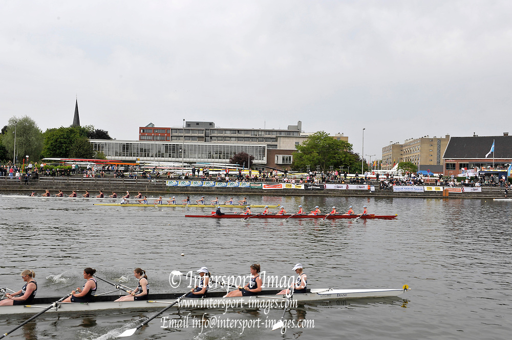 Gent, BELGIUM,  General views, across the course, W8+ final. at  the International Belgian Rowing Championships, Saturday 09/05/2009, [Mandatory Credit. Peter Spurrier/Intersport Images]
