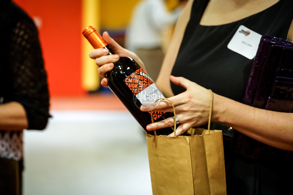 Seattle Children's Museum 36th Birthday Celebration 2016. Wine Grab Bag. Photo by Alabastro Photography.