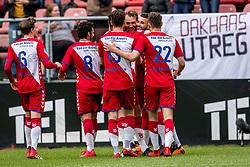 11-03-2018 NED: FC Utrecht - Vitesse, Utrecht<br /> Utrecht verslaat met 5-1 Vitesse / Willem Janssen #14 of FC Utrecht scoort de 1-0