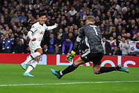 Football - 2019 / 2020 UEFA Champions League - Group B: Tottenham Hotspur vs. Bayern Munich<br /> <br /> Heung - Min Son of Tottenham has his shot saved by goalkeeper, Manuel Neuer, at The Tottenham Hotspur Stadium.<br /> <br /> COLORSPORT/ANDREW COWIE