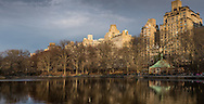 A tranquil scene at the Sailboat Pond in Central Park this afternoon Feb. 8, 2017, before tomorrow's winter storm.