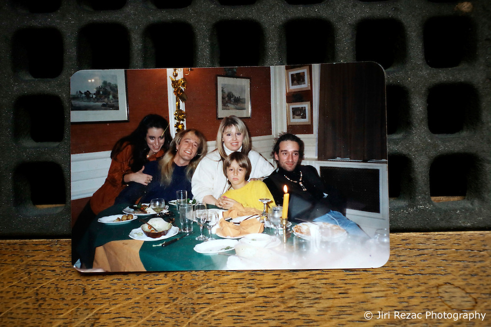 UK ENGLAND THAME 27AUG14 - Family photograph of  deceased Bee Gees singer  Robin Gibb reproduced at his home in Thame, Oxfordshire.<br /> <br /> jre/Photo by Jiri Rezac<br /> <br /> &copy; Jiri Rezac 2014