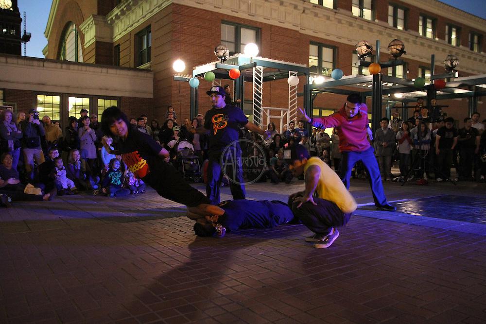 Seattle's Night Market & Moon Festival 2012.  Massive Monkeys.