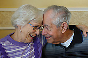 An elderly couple in their 80's fall in love.
