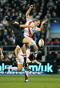 Twickenham, GREAT BRITAIN, Left C NZ's, Conrad SMITH and Jamie NOON jump for the high ball, during the Investic Challenge, England vs New Zealand, Autumn International at Twickenham Stadium, Surrey on Sat 29.11.2008 [Photo, Peter Spurrier/Intersport-images]