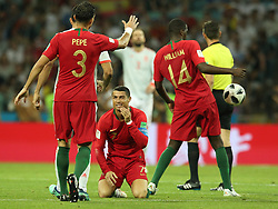 June 15, 2018 - Sochi, Russia - June 15, 2018, Russia, Sochi, FIFA World Cup, First round, Group B, First round, Portugal against Spain at Fisch Stadium. Player of the national team Cristiano Ronaldo dos Santos Aveiro  (Credit Image: © Russian Look via ZUMA Wire)