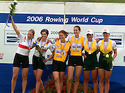 Poznan, POLAND.  2006, FISA, Rowing World Cup the GER W2-, Bow Nicole ZIMMERMANN amd Elke  HIPLER  'Malta Regatta course;  Poznan POLAND, Sat. 17.06.2006. © Peter Spurrier   ....[Mandatory Credit Peter Spurrier/ Intersport Images] Rowing Course:Malta Rowing Course, Poznan, POLAND