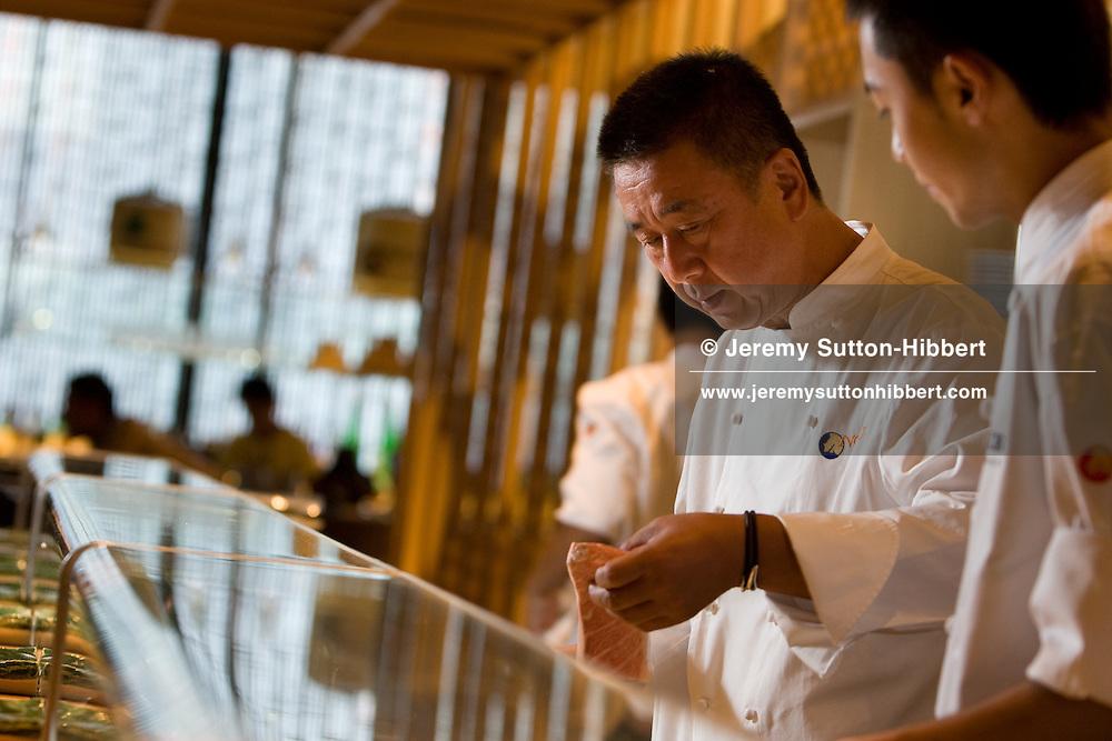 Chef and owner of 'Nobu' restaurants, Nobuyuki Matsuhisa, Tokyo, Japan, on Sunday 13th September 2009.