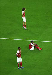 Arsenal players look dejected at full time during the UEFA Europa League final at The Olympic Stadium, Baku, Azerbaijan.