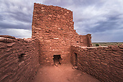 Approaching storm over Wukoki Ruin, Wupatki National Monument, Arizona