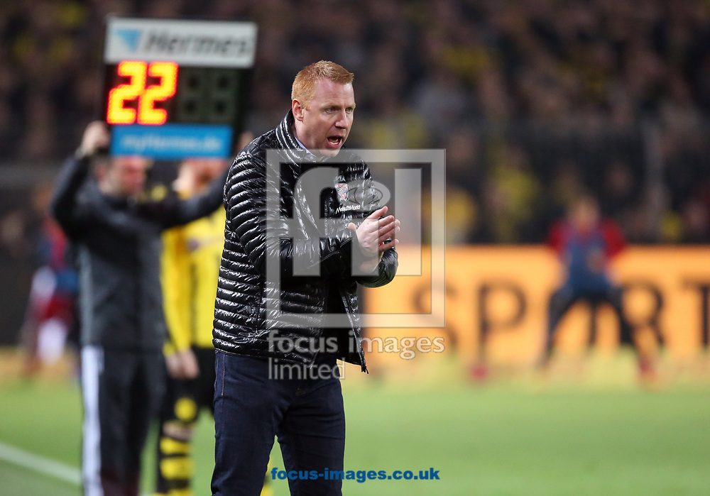 Maik Walpurgis, head coach of FC Ingolstadt 04 during the Bundesliga match at Signal Iduna Park, Dortmund<br /> Picture by EXPA Pictures/Focus Images Ltd 07814482222<br /> 17/03/2017<br /> *** UK &amp; IRELAND ONLY ***<br /> EXPA-EIB-170318-0059.jpg