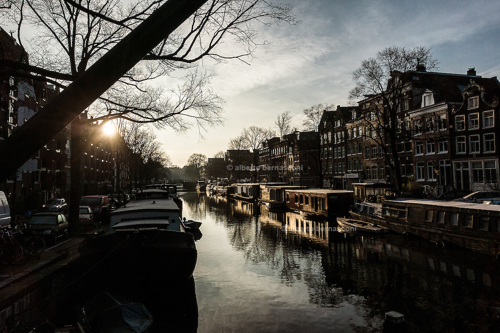 Amsterdam, early morning landscape