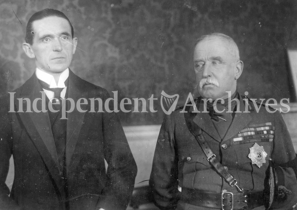 Field Marshal Sir John French, Lord Lieutenant of Ireland, with Chief Secretary. Ian McPherson, 20 January 1919. (Part of the Independent Newspapers Ireland/NLI Collection)