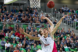Blaz Mesicek of Union Olimpija during basketball match between KK Union Olimpija Ljubljana and Telekom Baskets Bonn (GER) in Round 3 of EuroCup 2015/16, on October 28, 2015 in Arena Stozice, Ljubljana, Slovenia. Photo by Matic Klansek Velej / Sportida.com