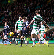 Dundee&rsquo;s Craig Wighton and Celtic's Charlie Mulgrew - Celtic v Dundee - Ladbrokes Scottish Premiership at Dens Park<br /> <br />  - &copy; David Young - www.davidyoungphoto.co.uk - email: davidyoungphoto@gmail.com