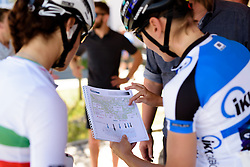 Final checks of the race route at Thüringen Rundfarht 2016 - Stage 6 a 130 km road race starting and finishing in Schleiz, Germany on 20th July 2016.