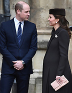 Members of The Royal Family attend Easter Service - 1 April 2018
