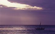 Fishing boat at dawn at Tirukovil, East Coast.