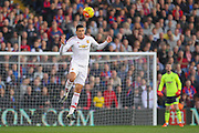 Chris Smalling of Manchester United heads clear during the Barclays Premier League match between Crystal Palace and Manchester United at Selhurst Park, London, England on 31 October 2015. Photo by Phil Duncan.