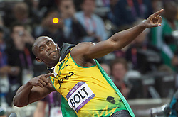 Usain Bolt wins 100 metres final at London 2012 Olympics, Sunday, 5th August 2012  Photo by:  i-Images