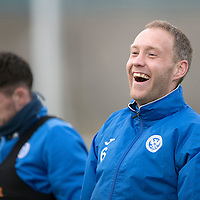 St Johnstone Training…30.12.16<br />Steven Anderson pictured during training this morning ahead of tomorrow's game against Dundee<br />Picture by Graeme Hart.<br />Copyright Perthshire Picture Agency<br />Tel: 01738 623350  Mobile: 07990 594431