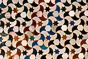 SPAIN, ANDALUSIA, GRANADA Alhambra; mosaic tiles or 'azulejos'