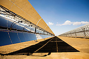 A view of the Andasol 1 and 2, a parabolic through power plants located in Granada, Spain. With a gross electricity output of around 180 GWh per year and a collector surface area of over 510, 000 square meters - equal to 70 soccer pitches - they are the largest solar power plants in the world..Following their construction period of around two years, the Andasol power plants will supply up to 200,000 people with environmentally friendly solar electricity. Photographer: Markel Redondo/Fedephoto.com.A view of the Andasol 1 and 2, a parabolic through power plants located in Granada, Spain. With a gross electricity output of around 180 GWh per year and a collector surface area of over 510, 000 square meters - equal to 70 soccer pitches - they are the largest solar power plants in the world..Following their construction period of around two years, the Andasol power plants will supply up to 200,000 people with environmentally friendly solar electricity. Photographer: Markel Redondo/Fedephoto.com for Greenpeace.A view of the Andasol 1 and 2, a parabolic through power plants located in Granada, Spain. With a gross electricity output of around 180 GWh per year and a collector surface area of over 510, 000 square meters - equal to 70 soccer pitches - they are the largest solar power plants in the world..Following their construction period of around two years, the Andasol power plants will supply up to 200,000 people with environmentally friendly solar electricity. Photographer: Markel Redondo/Fedephoto.com for Greenpeace.