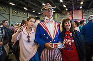 Trump fans at  Republican presidential candidate Donald Trump's campaign rally in New Orleans. <br /> The New Orleans rally on Friday, March 4, 2016 at Lakefront Airport took place a day before the primary vote.