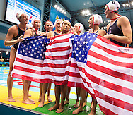 Team USA.USA - SPAIN .Water Polo Women GOLD final .London 2012 Olympics - Olimpiadi Londra 2012.day 14 Aug.9.Photo G.Scala/Deepbluemedia.eu/Insidefoto