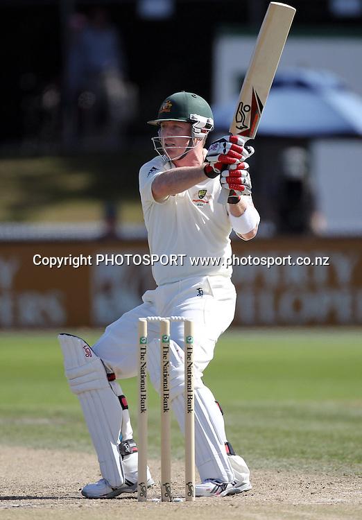 Brad Haddin hooks.<br />Test Match Cricket. 2nd test. Day 4.<br />New Zealand Black Caps versus Australia. Seddon Park, Hamilton, New Zealand. Tuesday 30 March 2010. <br />Photo: Andrew Cornaga/PHOTOSPORT