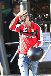 21.08.2015, Circuit de Spa, Francorchamps, BEL, FIA, Formel 1, Grand Prix von Belgien, Qualifying, im Bild Sebastian Vettel (Scuderia Ferrari) kommt ins Paddock am morgen // during the Qualifying of Belgian Formula One Grand Prix at the Circuit de Spa in Francorchamps, Belgium on 2015/08/21. EXPA Pictures © 2015, PhotoCredit: EXPA/ Eibner-Pressefoto/ Bermel<br /> <br /> *****ATTENTION - OUT of GER*****